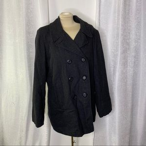 Columbia wool double breasted peacoat